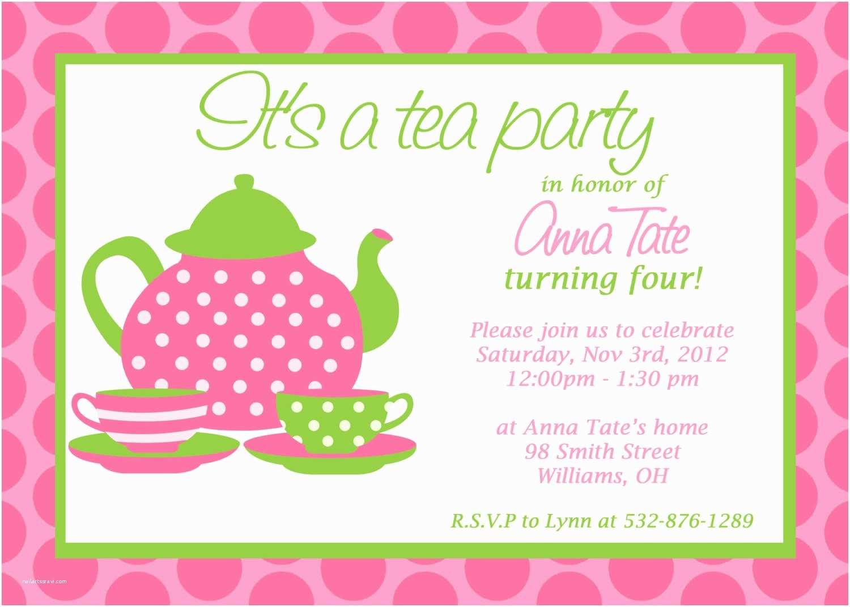 Party Invitation Ideas Party Invitations Great Design Tea Party Invitation