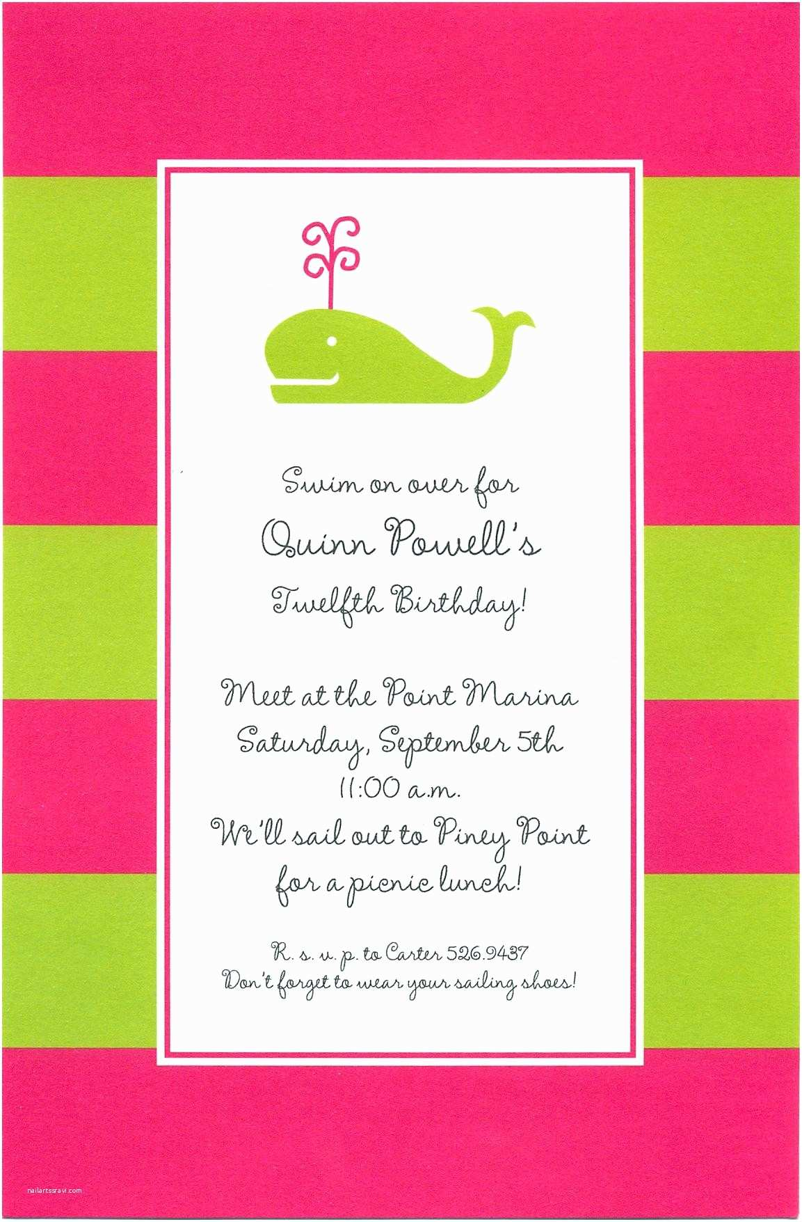 Party Invitation Sample 5th Birthday Party Invitation Quotes Invitation
