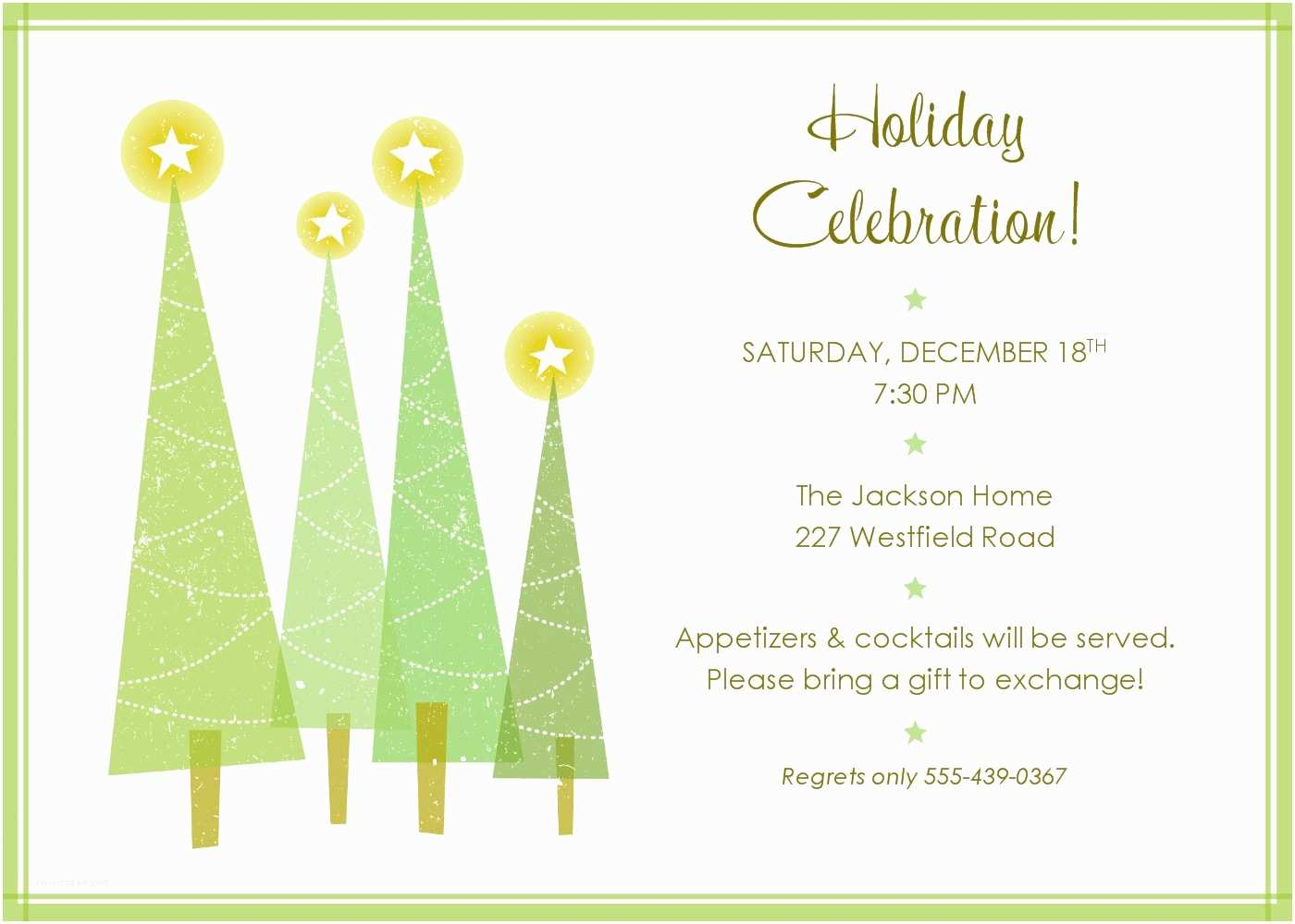 Party Invitation Sample Christmas Party Invitation Template