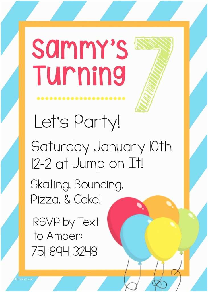Party Invitation Sample Free Printable Birthday Invitation Templates