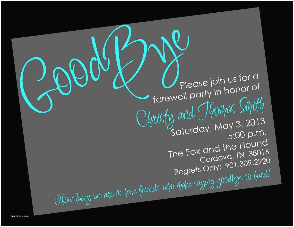 Party Invitation Template Goodbye Party Invitation Template Free