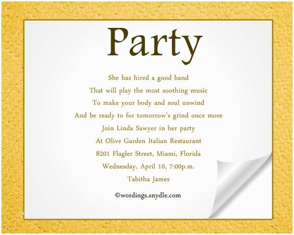 Our Best Gallery Of 37 Party Invitation Text Message