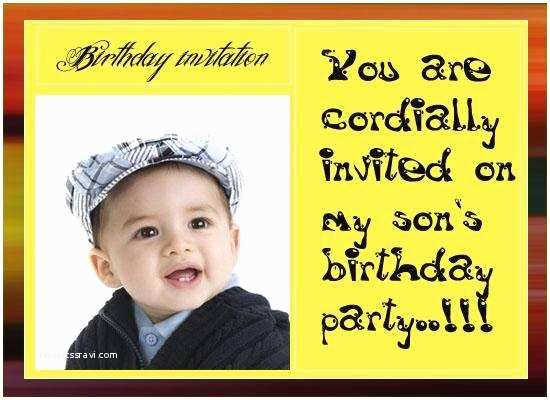 Party Invitation Text Message Birthday A Cake