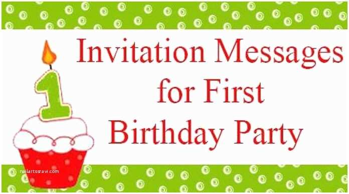 Party Invitation Text Message Invitation Messages for First Birthday Party