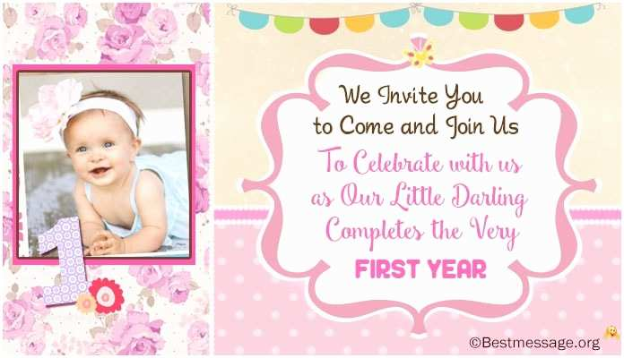 Party Invitation Text Message Unique Cute 1st Birthday Invitation Wording Ideas for Kids