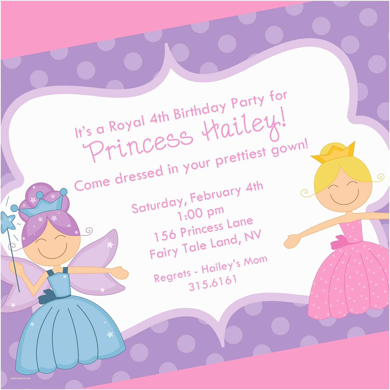 princess birthday party invitation wording
