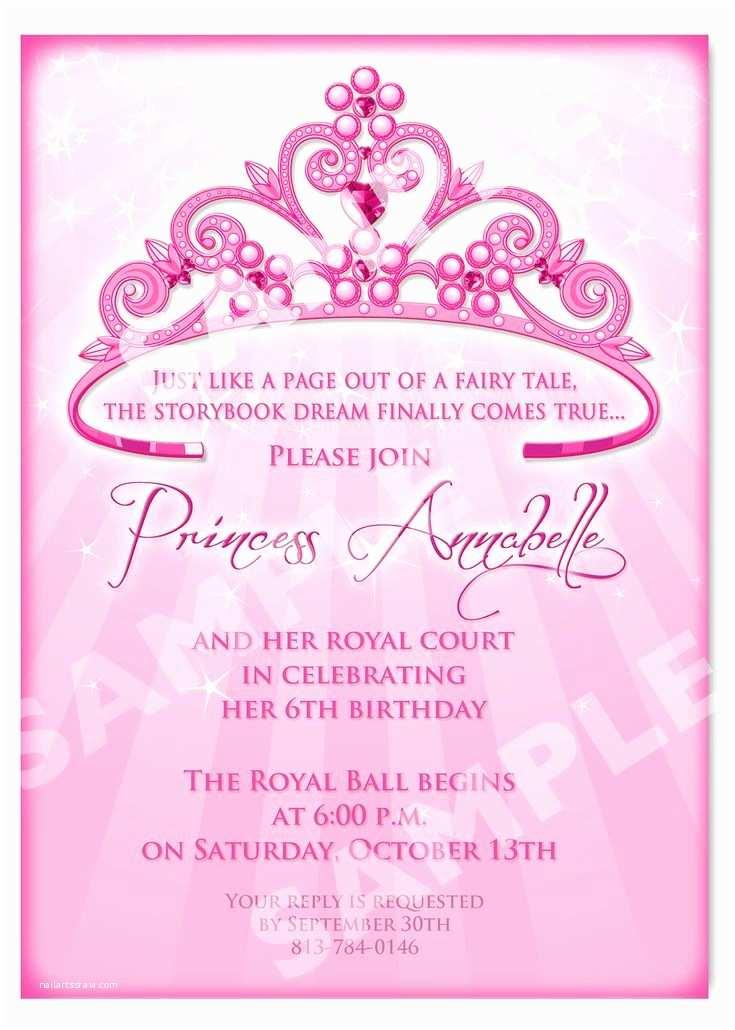Party Invitation Wording Free Printable Princess Birthday Invitation Templates