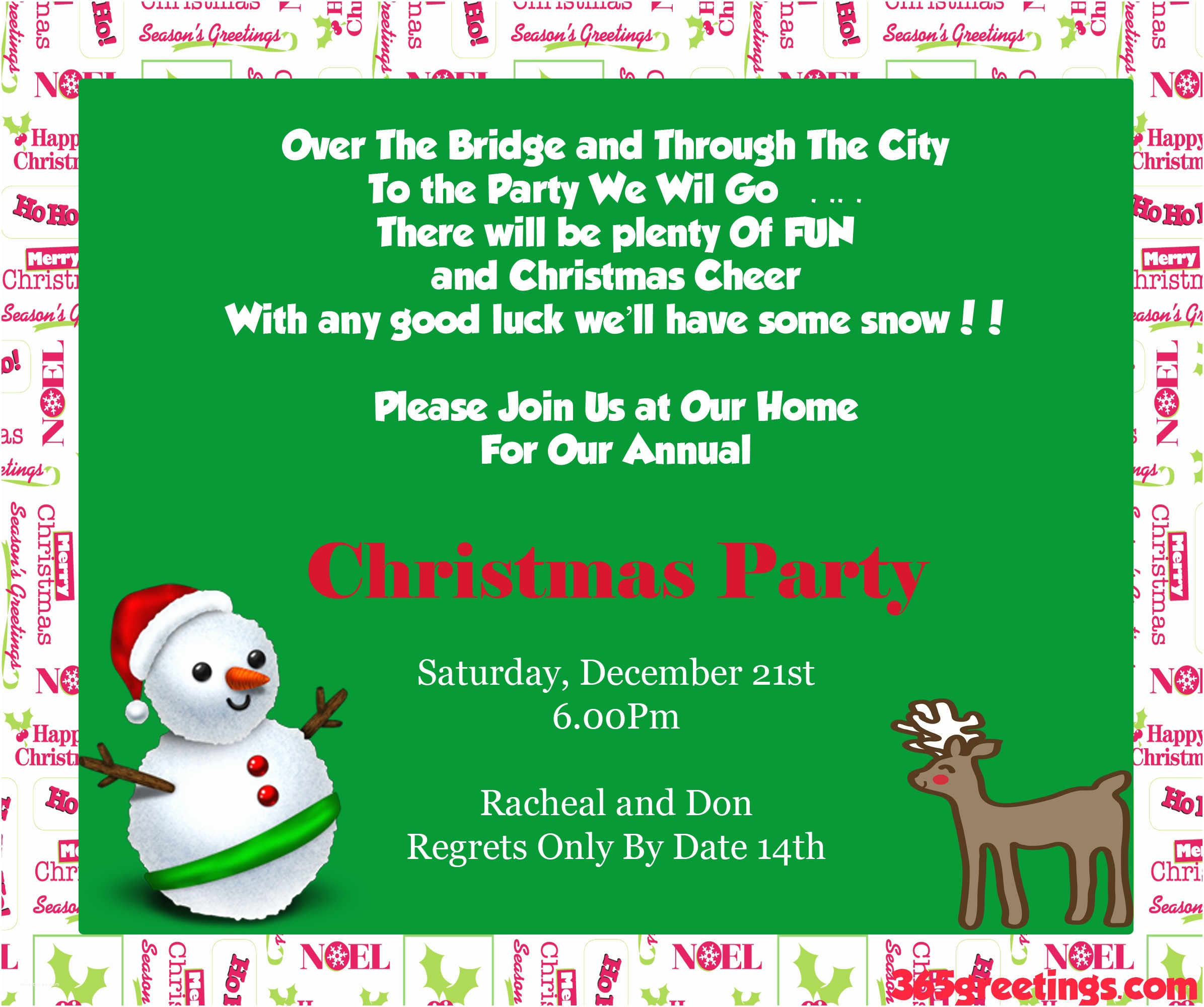 Party Invitation Wording Funny Christmas Ideas