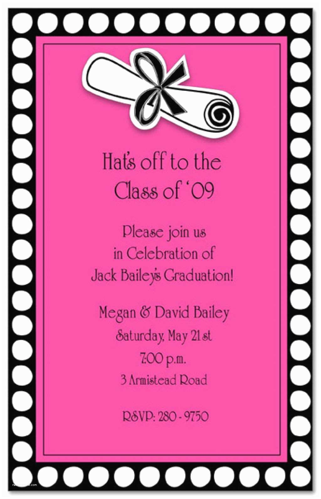 Party Invitation Wording Invitation Wording for Hat Party Invitation