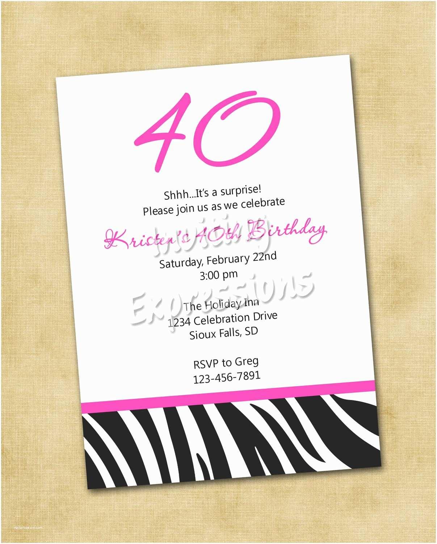Party Invitation Wording top 13 40th Birthday Party Invitation Wording