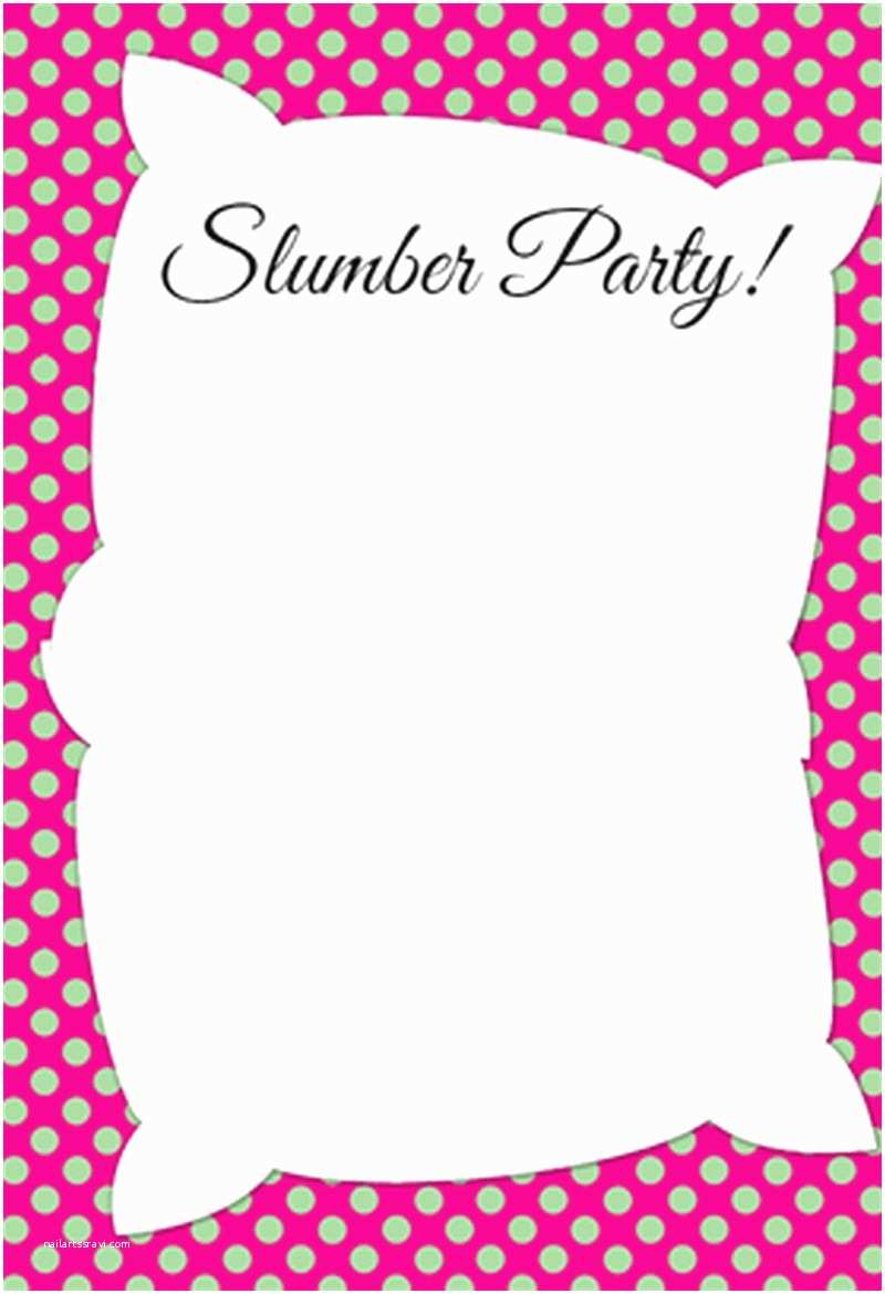 Party Invitations Online Invitation Template for Slumber Party