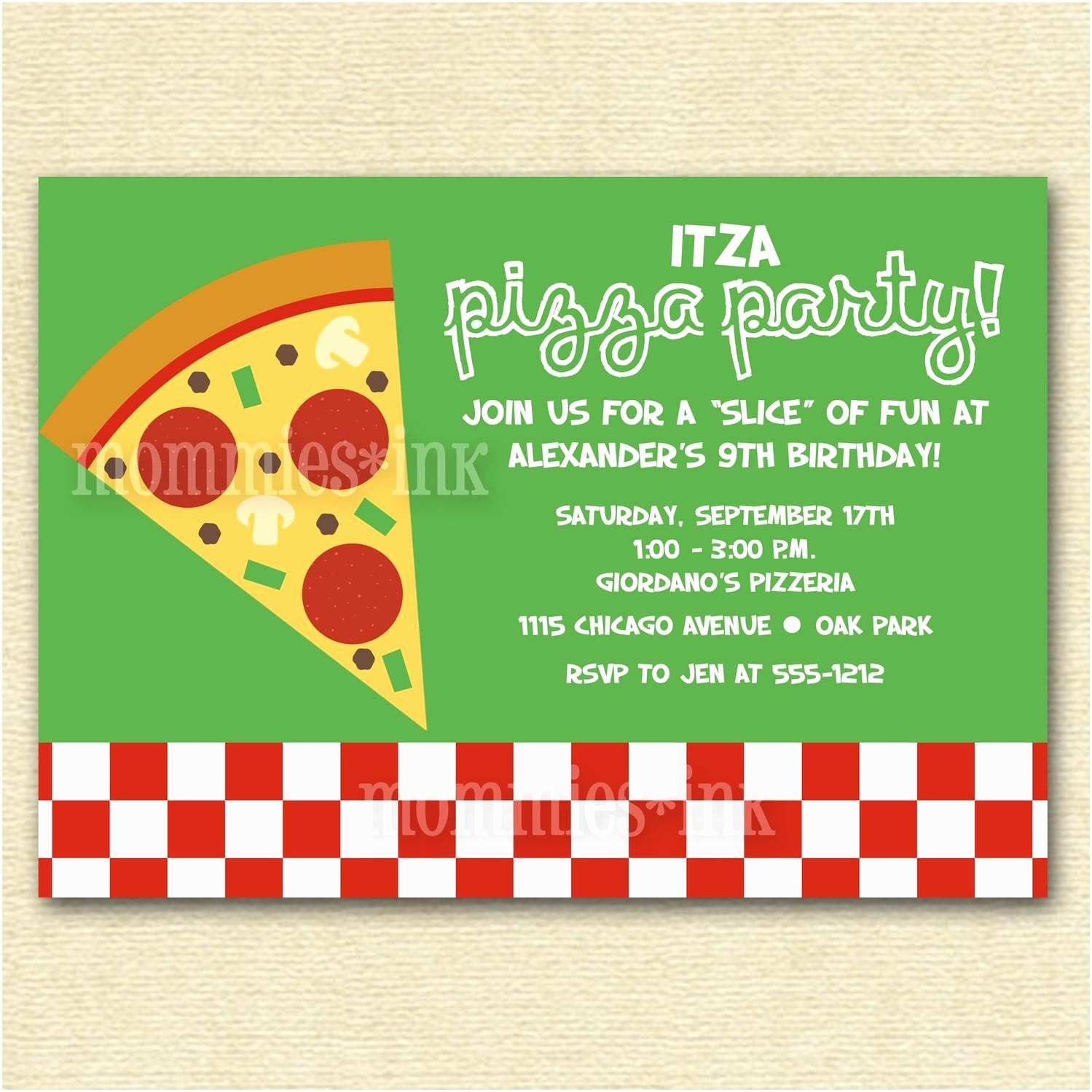 Party Invitations Online Pizza Party Invitations