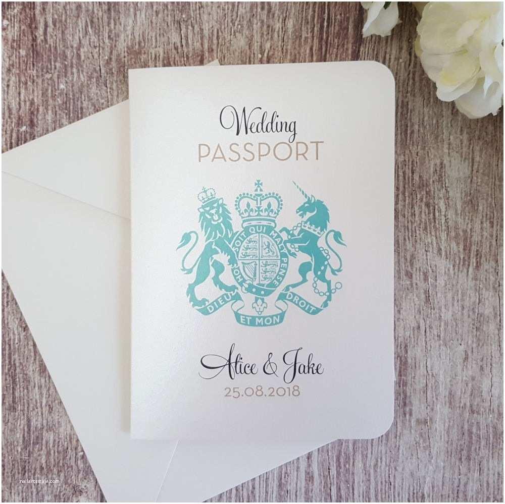 Passport Wedding Invitation Template C Bertha Fashion — Wedding & Cakes S
