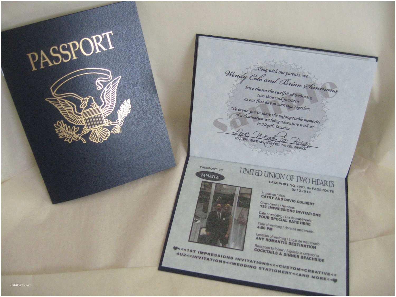 Passport Wedding Invitation Template Diy Passport Wedding Invitation Template Various