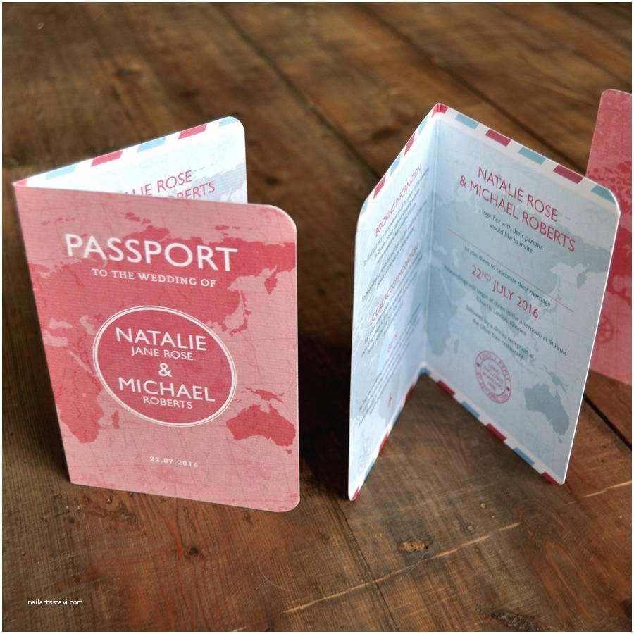 Passport Wedding Invitation Template Passport Wedding Invitation by Feel Good Wedding