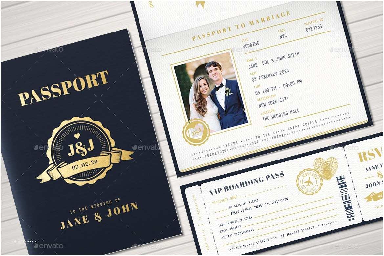 Passport Wedding Invitation Template Passport Wedding Invitation by Vector Vactory