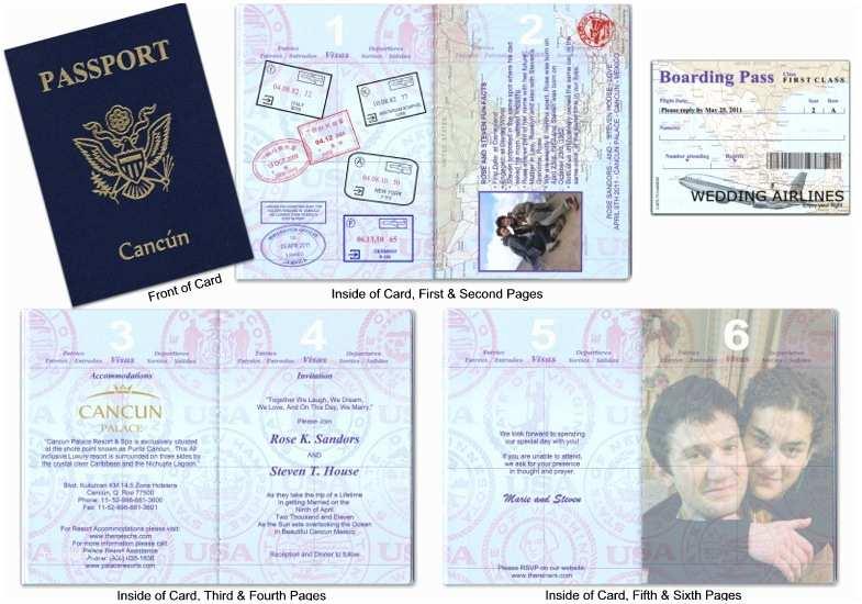 Passport Wedding Invitation Template Passport Wedding Invitations Template Free Download