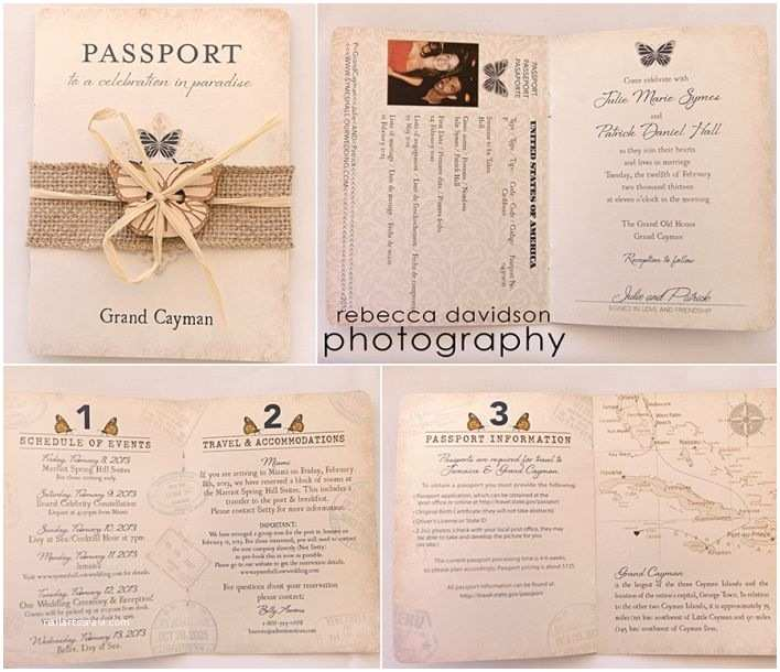 Passport Wedding Invitation Template Invitations Canada Template