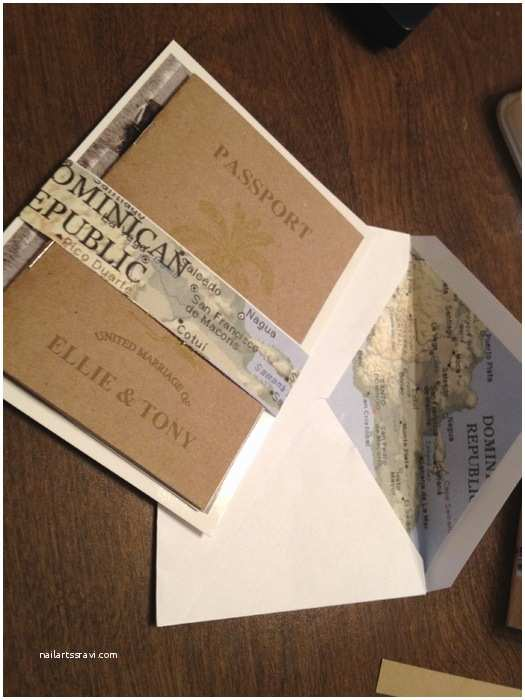 Passport Wedding Invitations Cheap Our Diy Kraft Paper Passport Invites Diy forum Passport