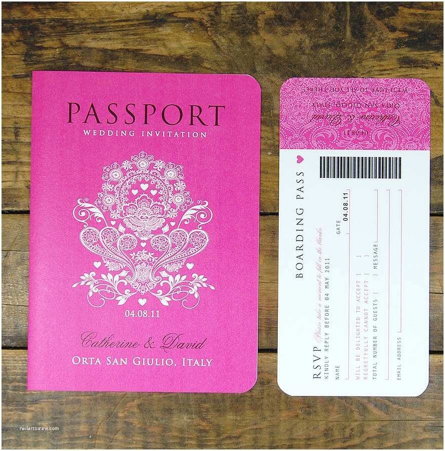 Passport Wedding Invitations Cheap Passport to Love Booklet Travel Wedding Invitation by