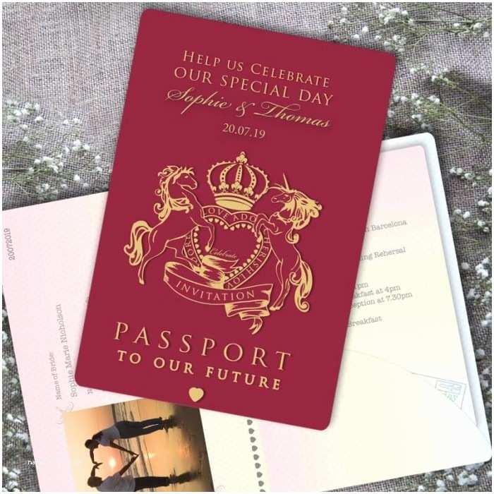 Passport Wedding Invitations Cheap Passport to Love Wedding Invitation