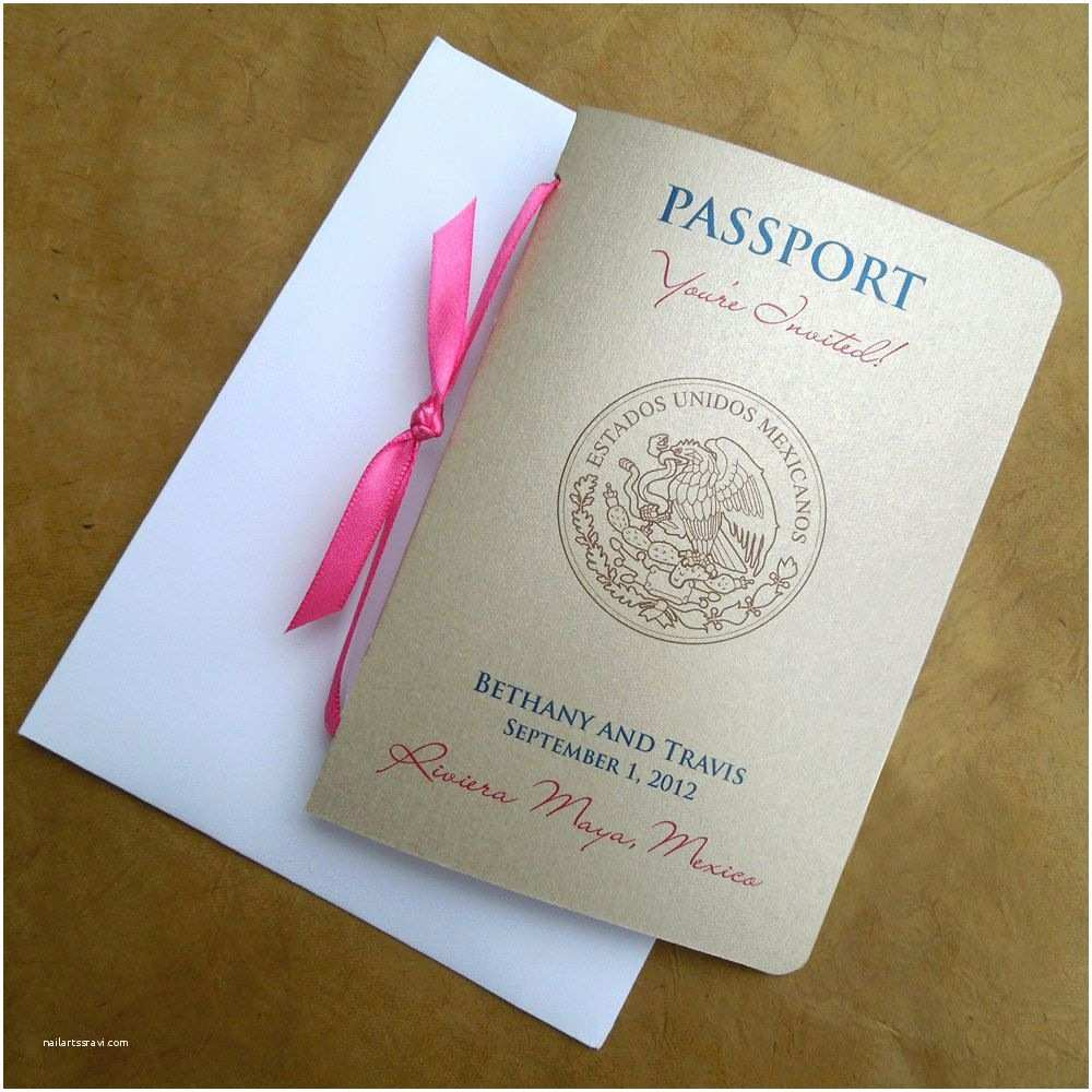 Passport Wedding Invitations Cheap Passport Wedding Invitation $8 50 Via Etsy