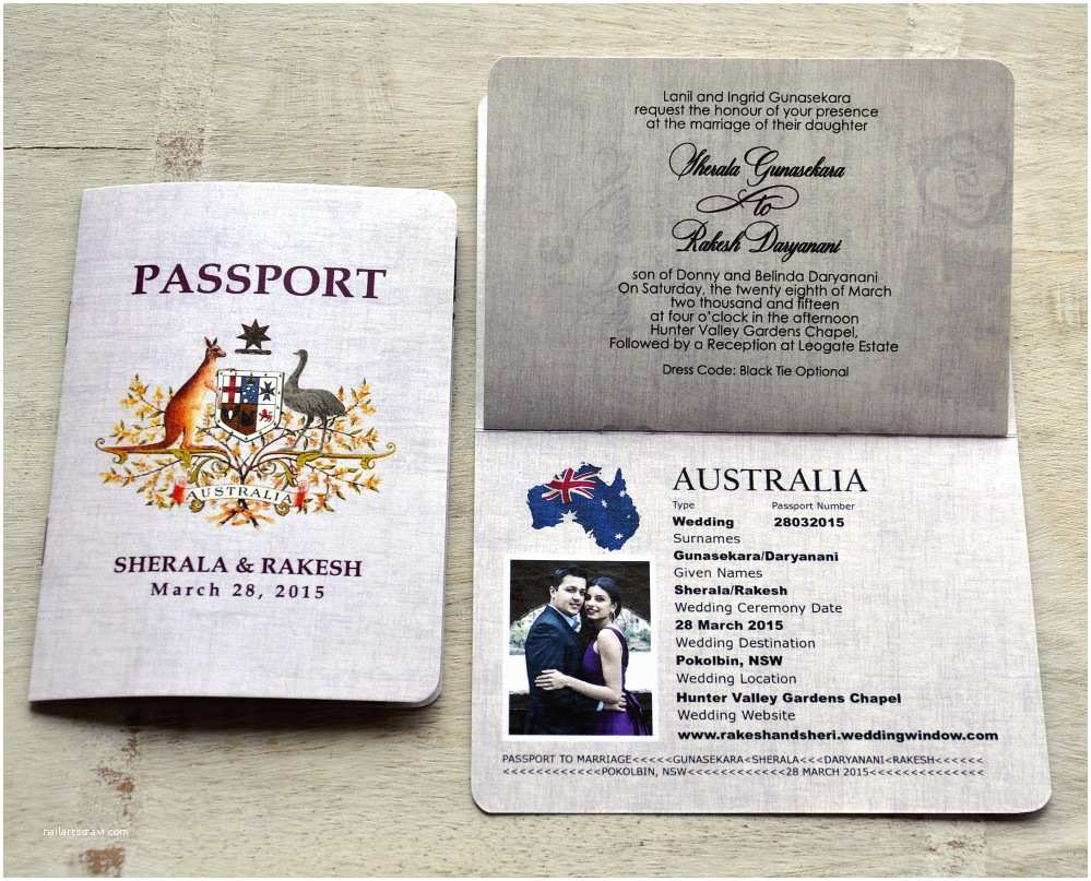 Passport Wedding Invitations Cheap Passport Wedding Invitation Design Fee Australian Emblem