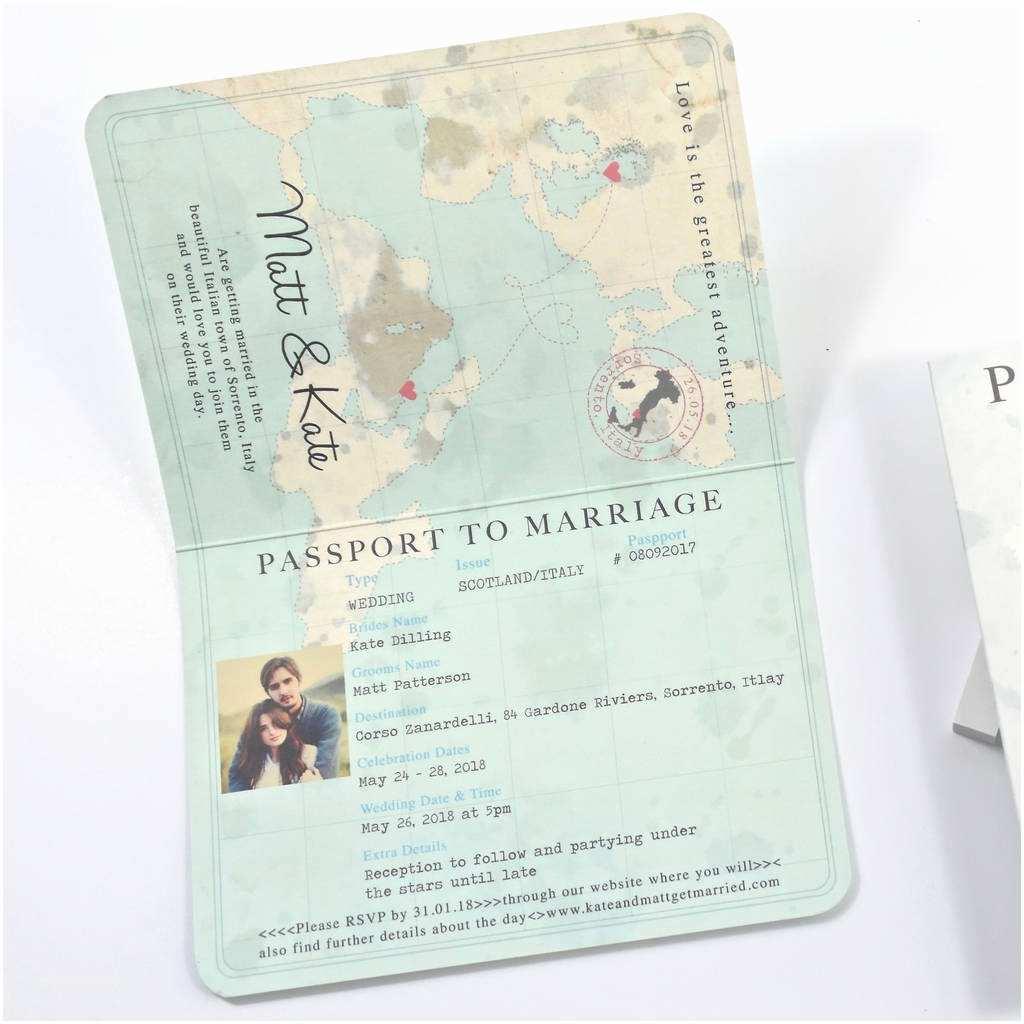 Passport Wedding Invitations Cheap Passport Wedding Invitation Passport Rendered Wedding