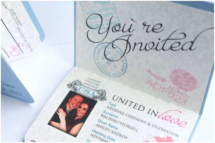 Passport Wedding Invitations Cheap Passport Wedding Invitations Template Free Download