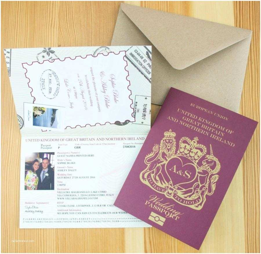 Passport Wedding Invitations Cheap Personalised Passport Wedding Invitations Uk