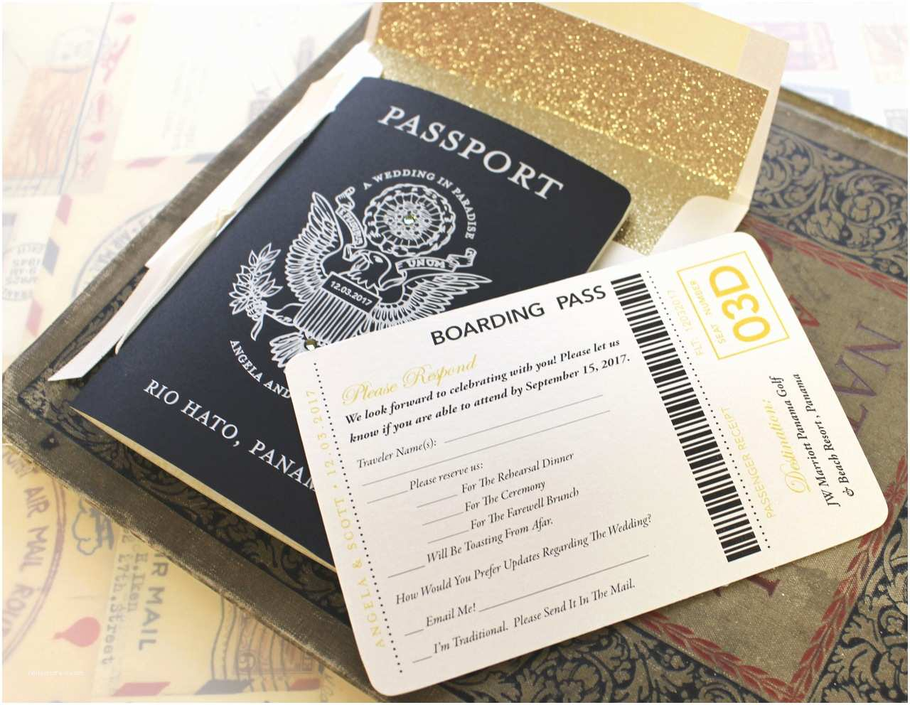 Passport Wedding Invitations Cheap Vintage Passport Wedding Invitation Jamaica Destination