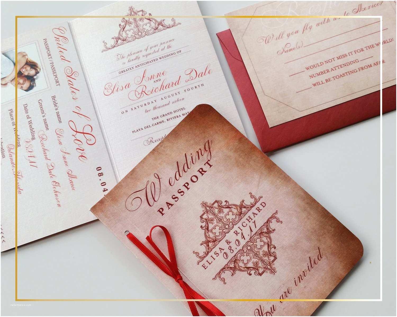 Passport Wedding Invitations Cheap Vintage Passport Wedding Invitation Wedding Invitation
