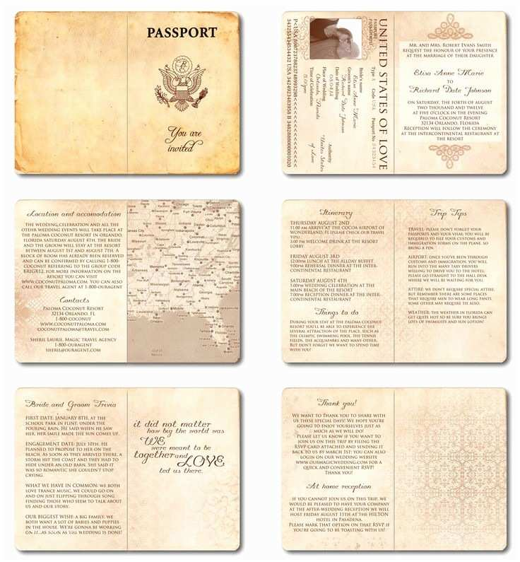 Passport Wedding Invitations Cheap Wedding Invitation Passport Printable Template Vintage