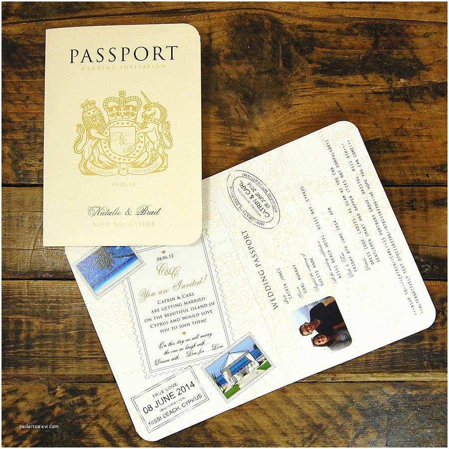 Passport Wedding Invitations Passport to Love Travel Card Style Wedding Invitation by