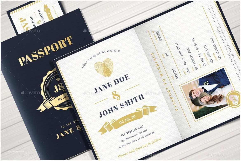 Passport Wedding Invitations Passport Wedding Invitation by Vector Vactory