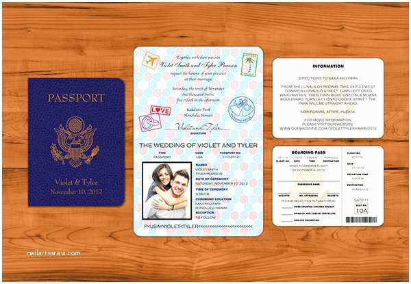 Passport Wedding Invitations Passport Wedding Invitation Maker Weddingplusplus