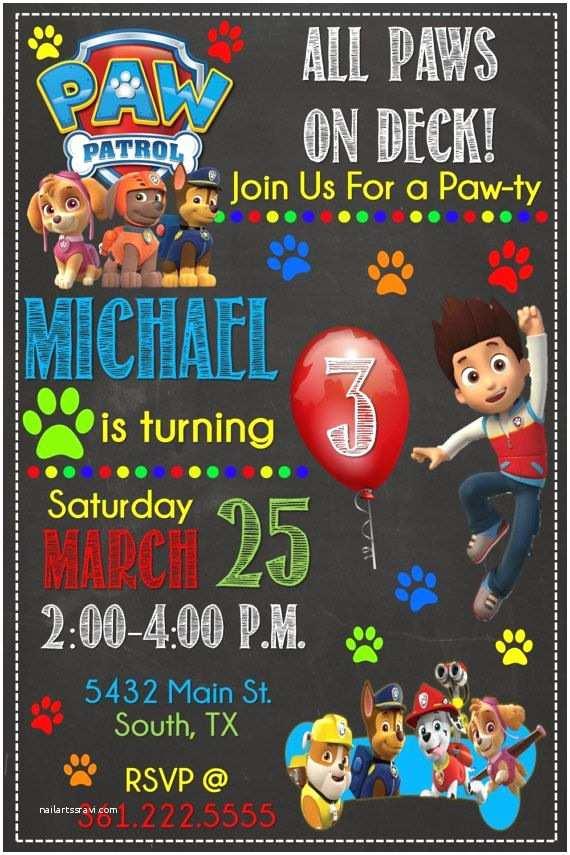 Paw Patrol Birthday Party Invitations Best 25 Paw Patrol Birthday Card Ideas On Pinterest