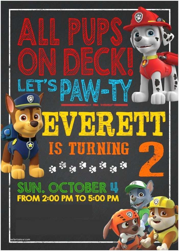 Paw Patrol Birthday Party Invitations Everett S Paw Patrol Birthday Paw Ty Diary Of A Working Mom