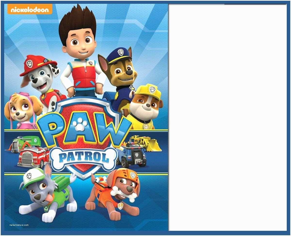 Paw Patrol Birthday Party Invitations Free Invitation Template