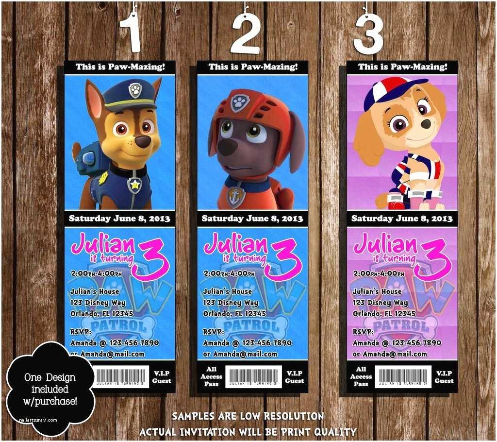 Paw Patrol Birthday Party Invitations Novel Concept Designs Paw Patrol Nick Jr Birthday