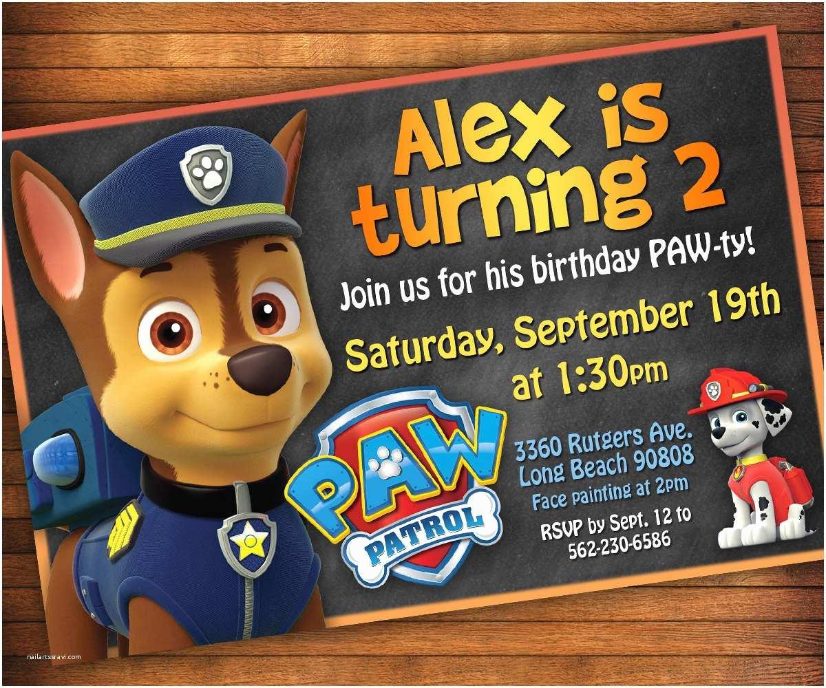 Paw Patrol Birthday Party Invitations Paw Patrol Invitation Paw Patrol Birthday Party Invitation