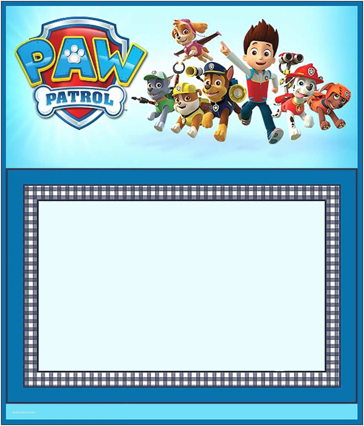 Paw Patrol Birthday Party Invitations Paw Patrol Birthday