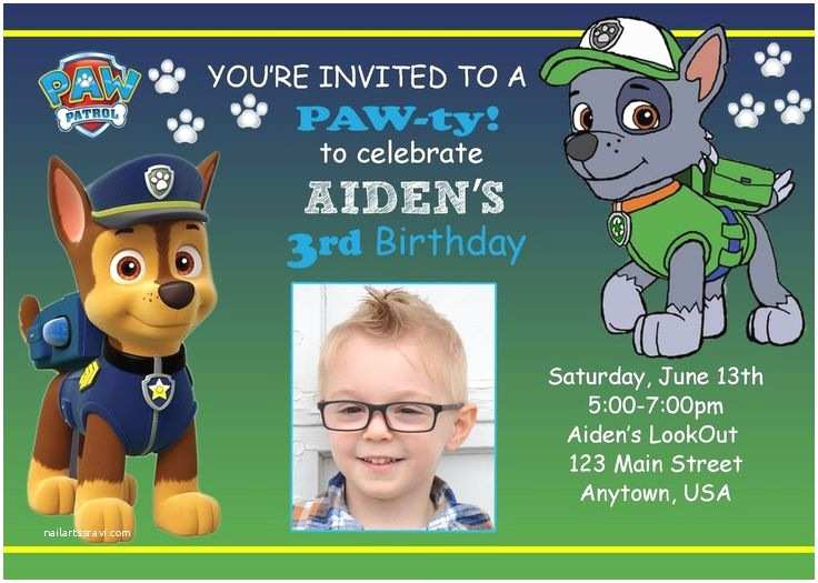 Paw Patrol Invitations Party City 17 Best Ideas About Paw Patrol Party Supplies On