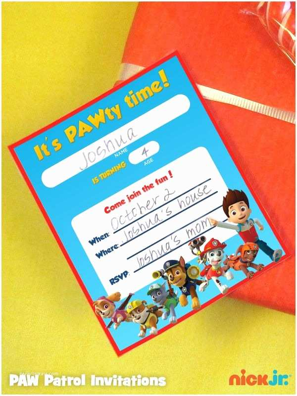 Paw Patrol Invitations Party City 97 Best Paw Patrol Party Images On