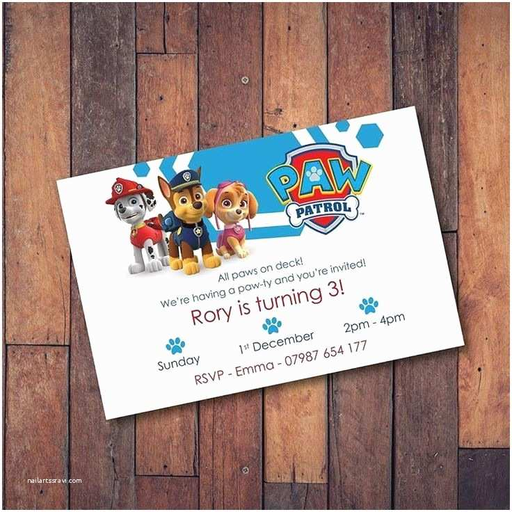 Paw Patrol Invitations Party City the 25 Best Paw Patrol Invitations Ideas On Pinterest