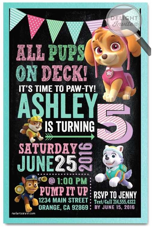 Paw Patrol Party Invitations Chase Paw Patrol Birthday Invitations [di 348] Harrison