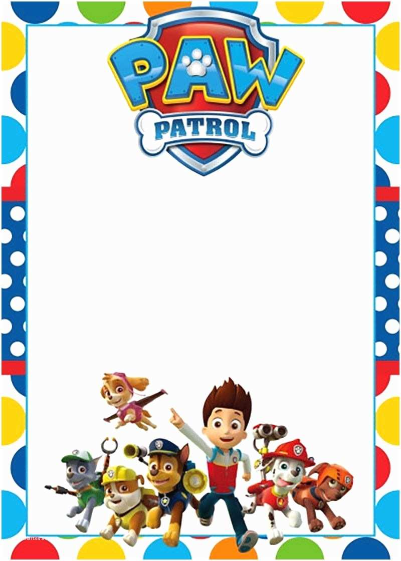Paw Patrol Party Invitations Free Printable Invitation Template