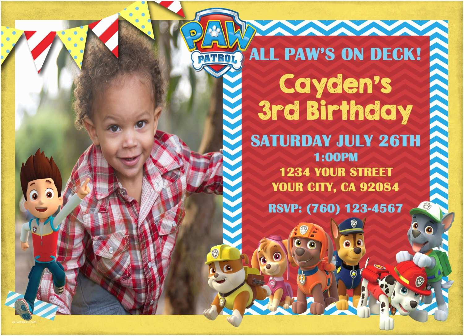 Paw Patrol Party Invitations Make Your Own