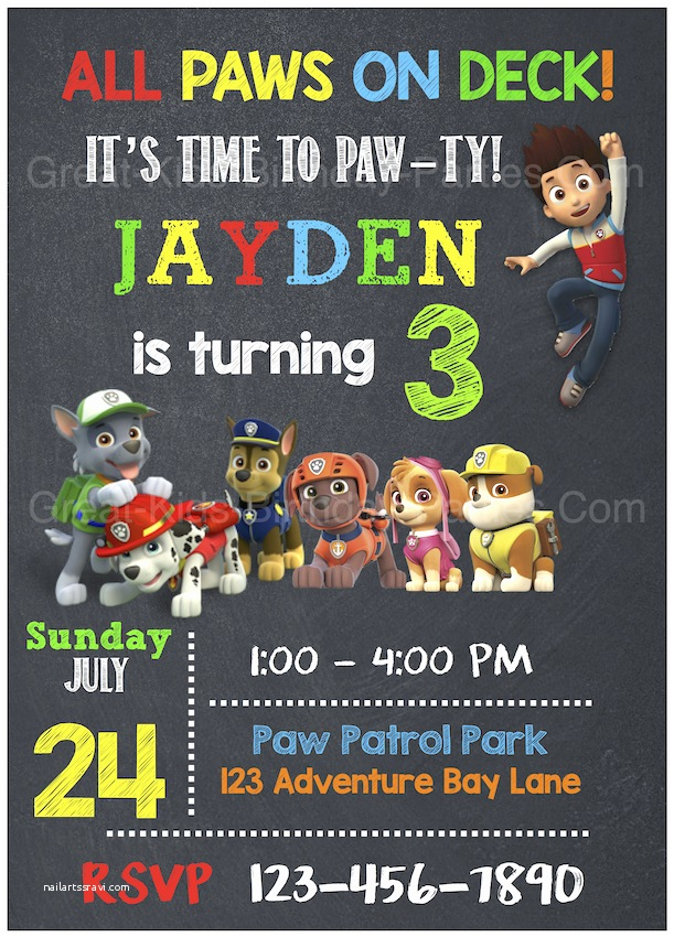 Paw Patrol Party Invitations Birthday Get Ready For A Pawtastic With