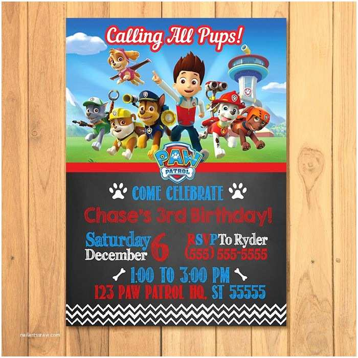 photo relating to Free Printable Paw Patrol Invitations identify Paw Patrol Get together Invites Paw Patrol Birthday Invites